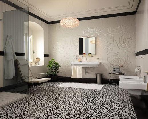 Douche Afvoer Beluchting ~ Pics Photos  Zwarte Barok Badkamer Met Modern Vrijstaand Bad