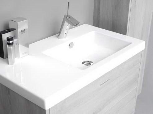 Thebalux molina meubel met keramische wastafel - Moderne wastafel ...