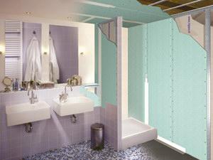 gipsplaten plafond in de badkamer