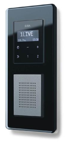 inbouw radio gira rds past perfect in de moderne badkamer. Black Bedroom Furniture Sets. Home Design Ideas