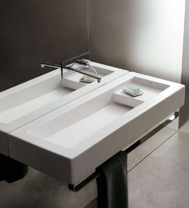 Badkamer kraan de basis van keuken is gemaakt berkenmultiplex met hp - Badkamer met wastafel ...