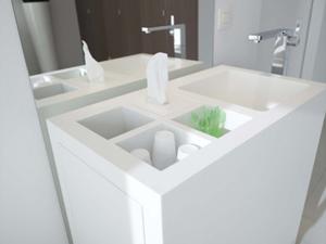 Vrijstaande kranen in de moderne badkamer - Moderne wastafel ...