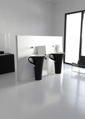Artceram cup moderne vrijstaande wastafel - Moderne wastafel ...