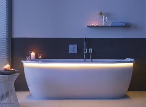 baden met comfortrand en led verlichting