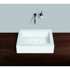 Alape Ab Serie opbouw waskom zonder kraangat 45x45 wit 3302000000