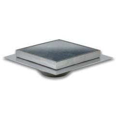 Aquaberg vloerput 150x150mm RVS met onderuitlaat 50mm betegelba