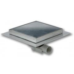Aquaberg vloerput 150x150mm RVS met zijuitlaat 40mm betegelbaar