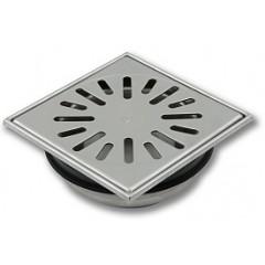 Aquaberg vloerput 150x150mm RVS met onderuitlaat 50mm rooster R