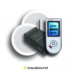 Aquasound badkamer radioset light met bolero inbouw speakerset wit WMC55LIGHT