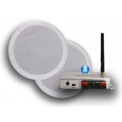 Aquasound bluetooth 35w music center met bolero speakerset zwart BMC35EASY