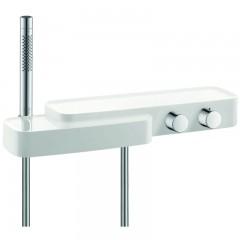 Axor Bouroullec opbouw badkraan thermostatisch met planchet chroom/wit 19741400