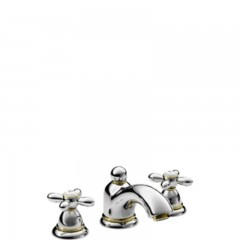 Axor Carlton 3-gats wastafelkraan 2-greeps kruis chroom/goud 17133090