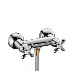 Axor Carlton douchekraan zonder omstel met koppelingen HOH=15cm chroom/goud 17630090