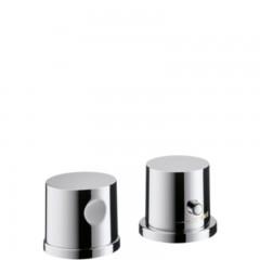 Axor Uno afbouwdeel voor 2-gats badrandthermostaat chroom 38480000