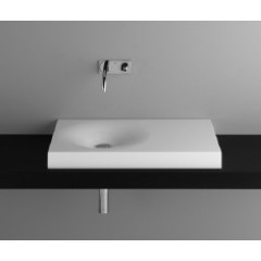 Bette Bowl opbouwwastafel zonder kraangat 80x50 wit A010000