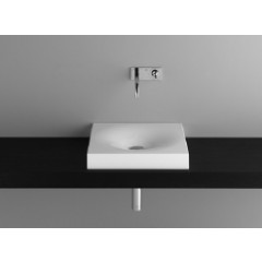 Bette Bowl opbouwwastafel zonder kraangat 50x50 wit A012000