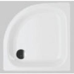 Bette Corner douchebak plaatstaal dikwandig kwartrond 90x90x6.5cm met paneel wit 8910000