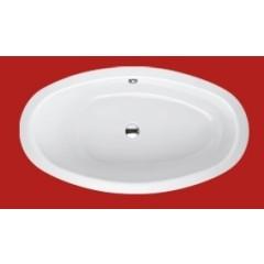 Bette Home Oval S bad plaatstaal dikwandig ovaal 180x100x45cm z. poten zwart-wit 8994350CFXXK