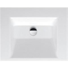 Bette Aqua opbouwwastafel incl. bevestiging 60x47.5cm z. kraangat z. overloop wit A044000