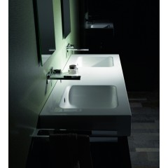 Bette One opbouwwastafel zonder kraangat 140x53 wit A141000