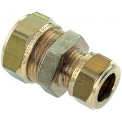 Bonfix messing overschuifkoppeling knel 12x10mm gastec / kiwa 82465