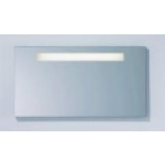 Burgbad Crono spiegel op paneel met standaard verlichting 120x64cm glans wit 1020SP1260