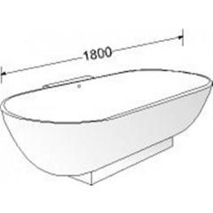 Burgbad Crono vrijstaand bad ovaal 180x80cm wit SEAO180C1