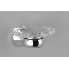 Dornbracht 360 zeephouder met kristal inzet platina-mat 8341036006