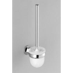 Dornbracht 360 closetborstelgarnituur met kristal glas platina-mat 8390036006