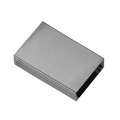 Dornbracht Balance Modules BigRain afdekplaat voor aansluitbuizen 125x50mm bij plafondonderbouw RVS gepolijst 1294097985
