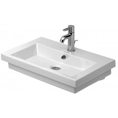 Duravit 2Nd Floor wastafel 3 kraangaten 60x43 wit WG 4916000301