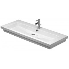 Duravit 2Nd Floor wastafel 3 kraangaten 120x50,5 wit WG 4911200301