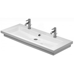 Duravit 2Nd Floor wastafel 2 kraangaten 120x50,5 wit WG 4911200241