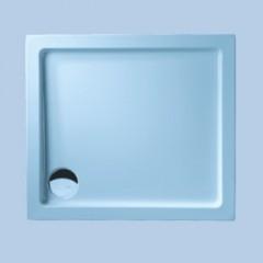 Duscholux Ancona 642 Trend kunststof douchebak acryl rechthoekig 90x80x15cm met onderstel z. paneel wit 663642002001