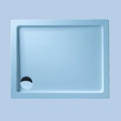 Duscholux Ancona douchebak 100x80x5cm inclusief paneel wit 663646001001