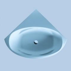 Duscholux Malaga 409 Free-Line kunststof hoekbad acryl 140x140cm z. paneel met onderstel wit 600409000001