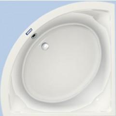 Duscholux Prime-line 245 kunststof hoekbad acryl 140x140x44.5cm met punt z. poten wit 615245000001