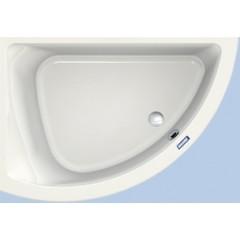 Duscholux Prime-line 247 kunststof hoekbad acryl a-symetrisch 154x99.5x44.5cm voor linkerhoek z. poten wit 615247000001