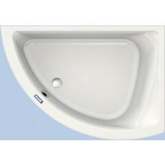 Duscholux Prime-line 248 kunststof hoekbad acryl a-symetrisch 154x99.5x44.5cm voor rechterhoek z. poten wit 615248000001