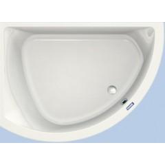 Duscholux Prime-line 249 kunststof hoekbad acryl a-symetrisch 174x109.5x44.5cm voor linkerhoek z. poten wit 615249000001