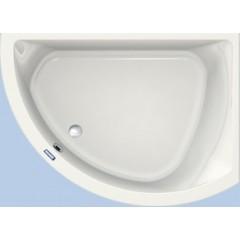 Duscholux Prime-line 250 kunststof hoekbad acryl a-symetrisch 174x109.5x44.5cm voor rechterhoek z. poten wit 615250000001