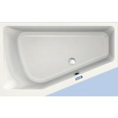 Duscholux Prime-line 251 kunststof hoekbad acryl a-symetrisch 160x100x45cm voor linkerhoek z. poten wit 615251000001