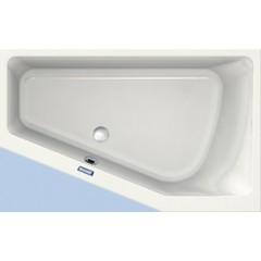 Duscholux Prime-line 252 kunststof hoekbad acryl a-symetrisch 160x100x45cm voor rechterhoek z. poten wit 615252000001
