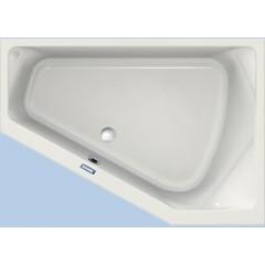 Duscholux Prime-line 254 kunststof hoekbad acryl a-symetrisch 170x120x45cm voor rechterhoek z. poten wit 615254000001