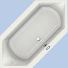 Duscholux Prime-line 255 kunststof bad acryl zeshoekig 190x90x45cm z. poten wit 615255000001
