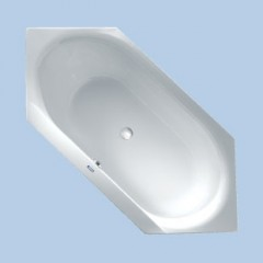 Duscholux Smart-line 32 kunststof bad acryl zeshoekig 190x85cm z. poten wit 611032000001