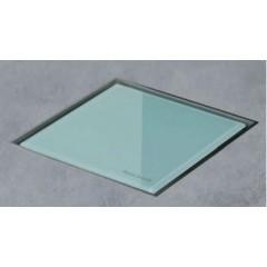Easy Drain AquaJewels Quattro glas mat 20x20cm met zijuitlaat 50mm waterslot 30/35/50mm groen AJQ-20X20-GGM