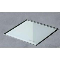 Easy Drain AquaJewels Quattro glas glans 15x15cm met onderuitlaat 50mm waterslot 35/50/70mm wit AJQ-15X15-MSI3-GW