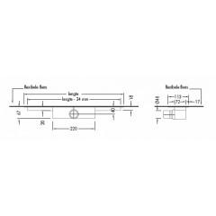 Easy Drain Modulo inbouwdeel M1 70cm waterslot 30mm EDM170030
