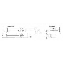 Easy Drain Modulo inbouwdeel M1 90cm waterslot 50mm EDM190050
